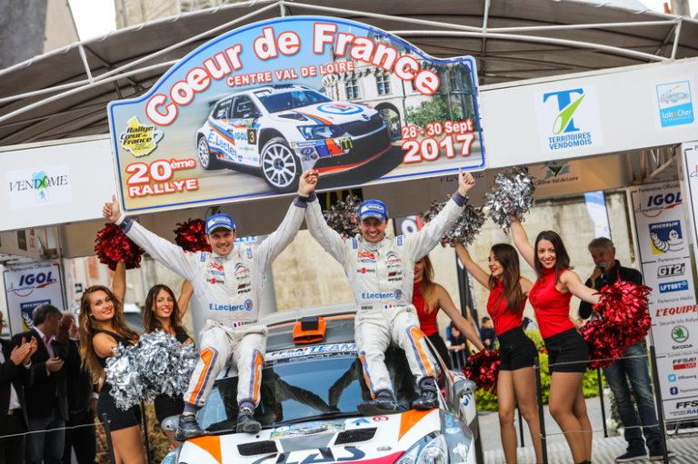 Yoann BONATO sur le podium : Champion de France des Rallyes en 2017 crédit photo : MAP / Pierre Simenel