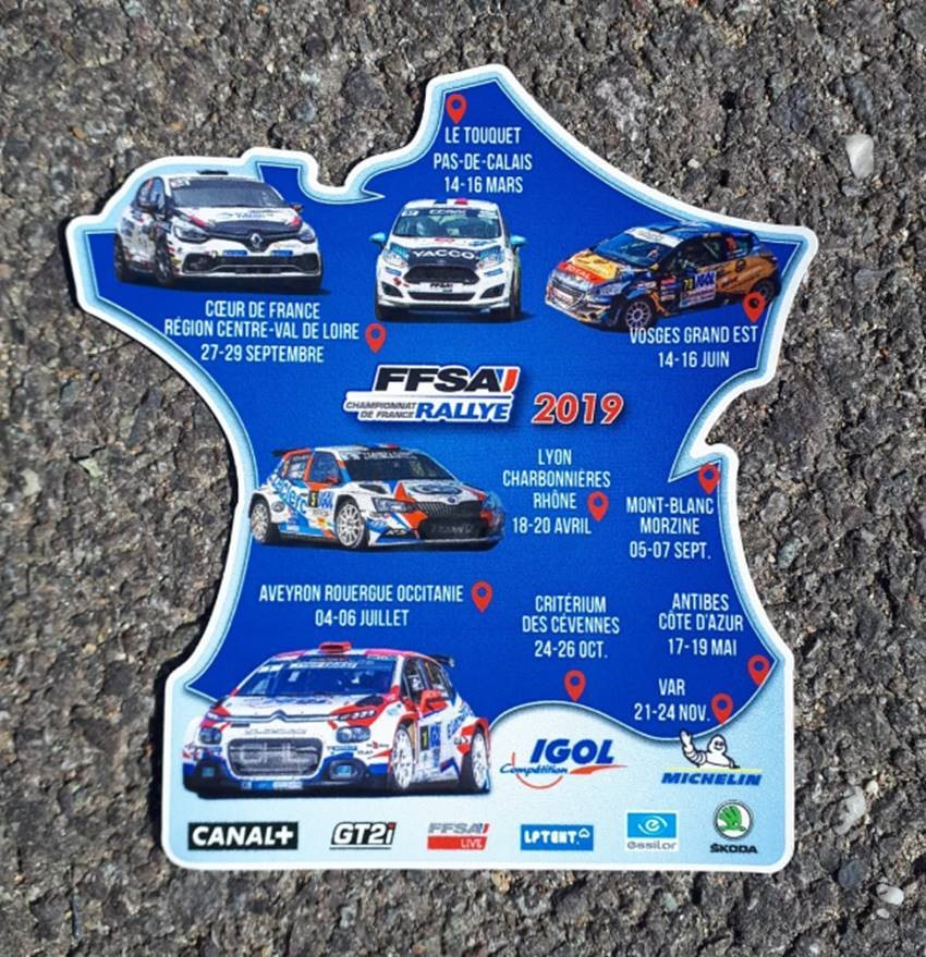 calendrier rallyes CFR 2019