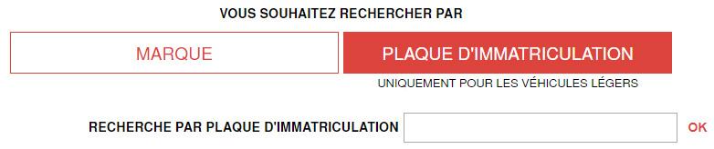 huile plaque immatriculation
